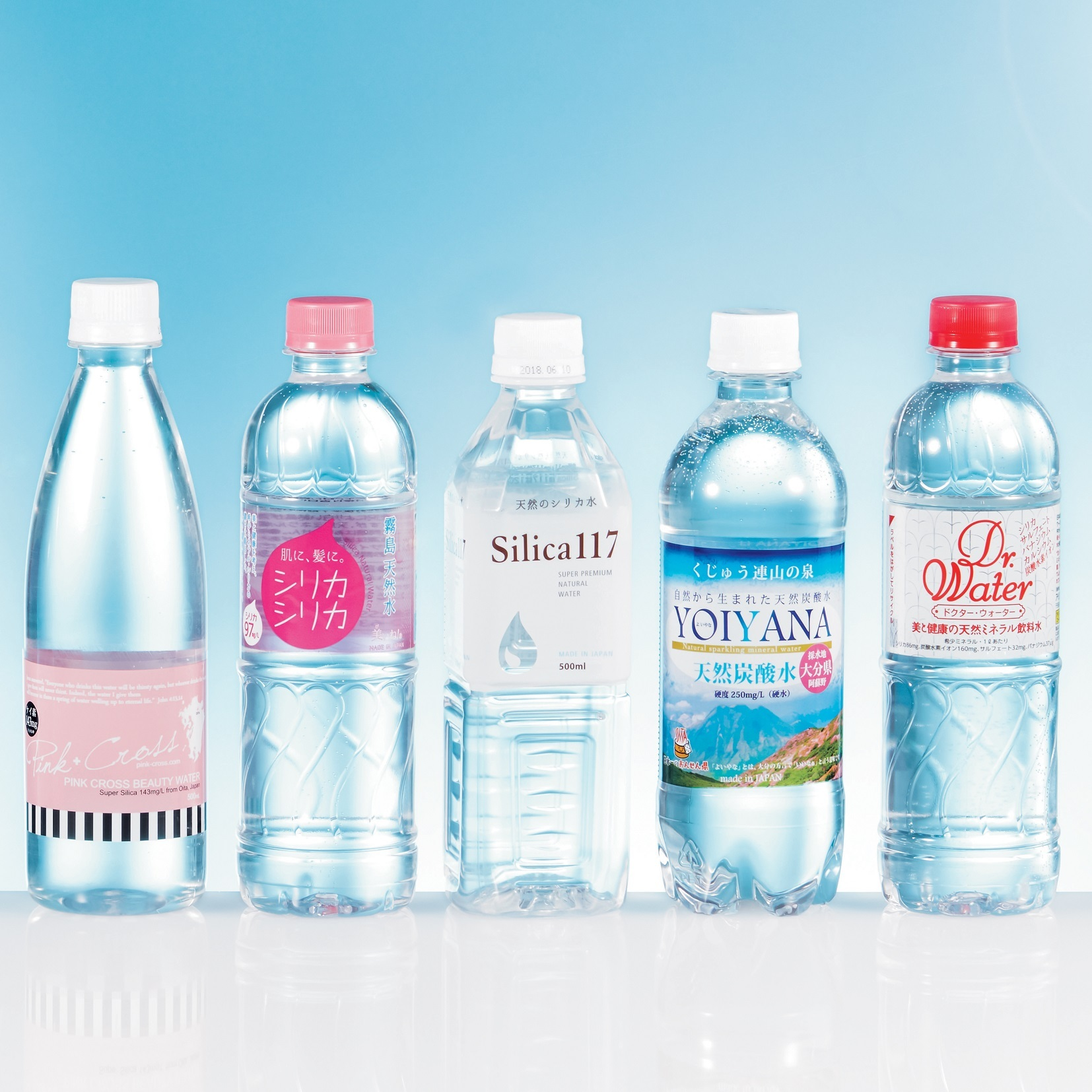 水選び、美容には「シリカ」入りが正解です