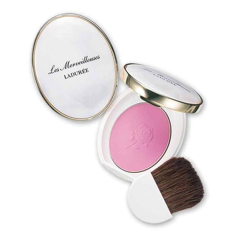 美発色と上品な佇まいで人気のカメオチークがさらに使いやすく進化 Les Merveilleuses LADURÉE パウダー ブラッシュ 01