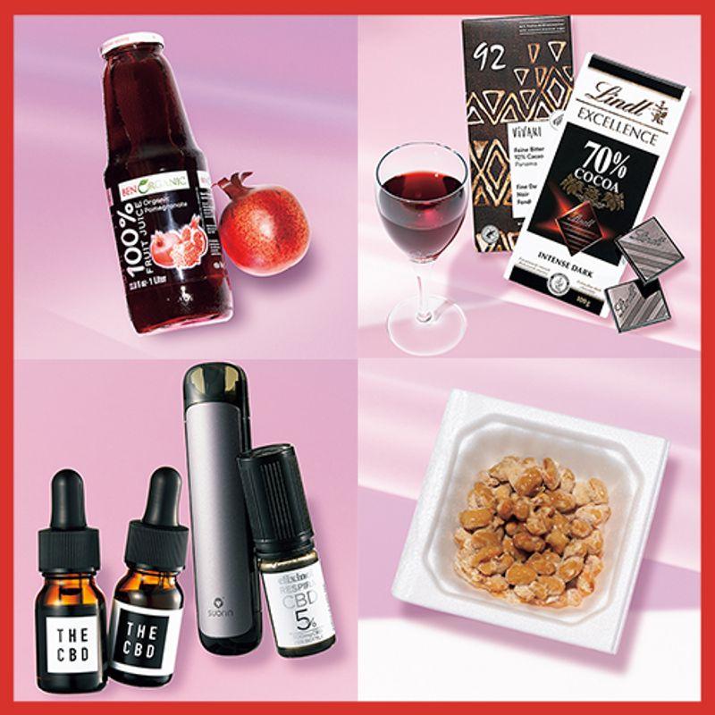 赤ワインやチョコ、納豆も! お馴染みの食べ物だけど実は【アンチエイジングフード】です