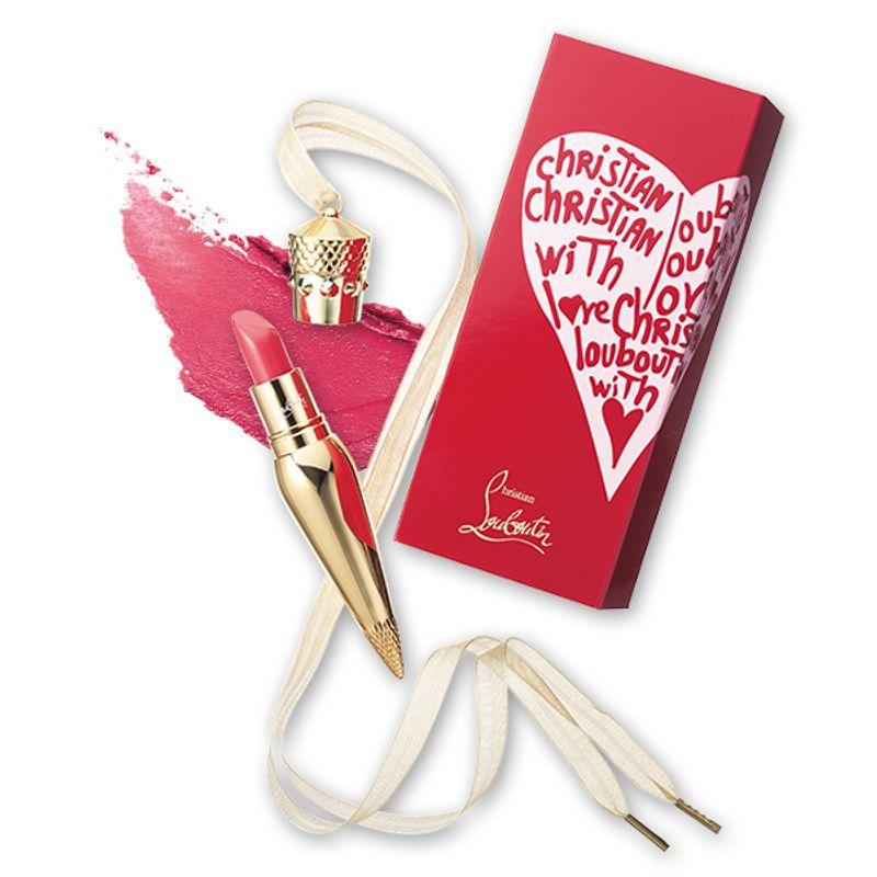 バレンタインのルブタンは、ルビハートのスリーブでBOXも華やか Christian Louboutin リップカラー ミスルビ 600