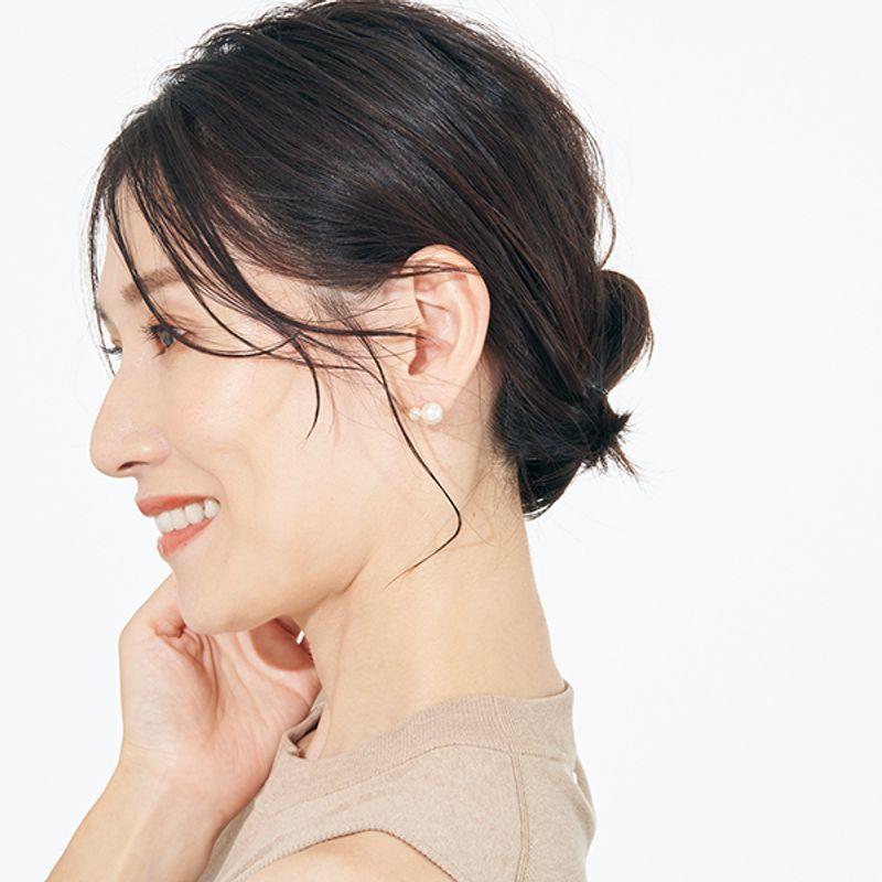 【夏の若見えまとめ髪|ミディアム編】清潔感があるのに女らしい韓国風お団子が正解!
