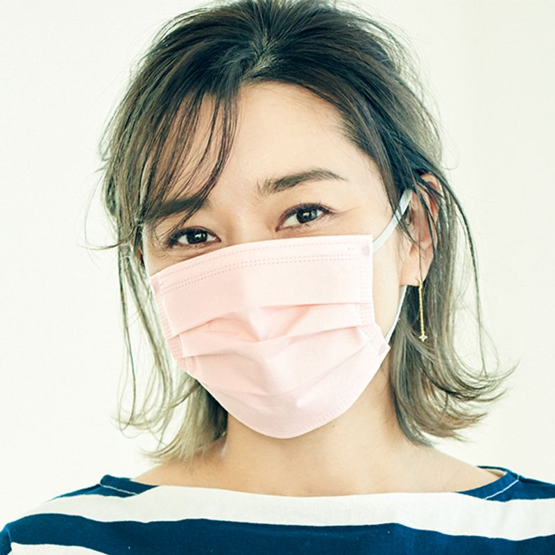 さらにおしゃれに進化した【不織布マスク】柄・血色カラー・ハンサムカラーで【美人度アップ】アイメーク