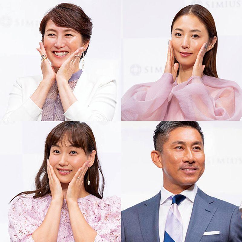 杉山愛さんが、MEGUMIさんが、藤本美貴さんが、前園真聖さんが シミウスの新美白ジェルに拍手喝采!