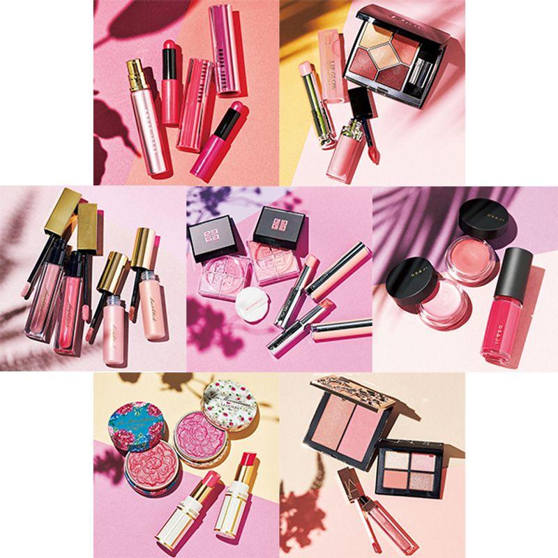 【夏の新色コスメ】大人が買うべき「決め打ちブランド」のサマーピンクが勢揃い